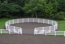 Barns, Round Pens, Fencing, Arenas, Horses, Tack
