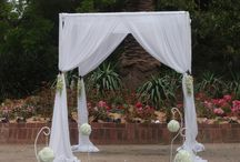 Chuppah / Chuppah with White Draping