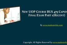 New UOP Course BUS 475 Capstone Final Exam Part 1 (Recent)