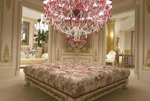 Chandeliers and light's round the room so bright / by Betty Avant