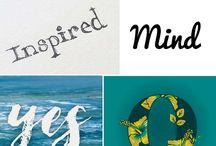 Font inspiration / Font inspiration for logos, prints and design