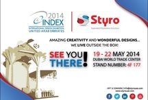 INDEX Exhibition Dubai / STYRO is pleased to announce its participation in INDEX 2014, the Largest Exhibition in Middle East and North Africa for Interiors, Design and Architecture – taking place at Dubai World Trade Center. Styro is preparing outstanding concepts and applications that will be showcased this year through our unique stand number 4F 177 and state-of-the-art desings for Art and Decoration purposes, including Interior and Exterior designs, 3D figures, Stages and Koshas and a lot more.