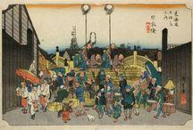 53 stations langs de Tokaidoweg door Hiroshige