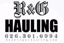 "Junk Removal Trash jobs / R&G Hauling ~ ""Rob & Ginger"" Serving SoCal since 1993 @ 626.301.0994. junk,trash.waste.debris,recycle service"