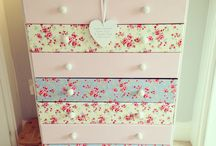 painted and decoupage furniture