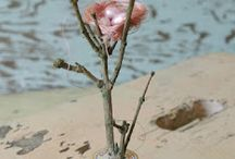 Spring Inspirations / Spring is springing up! Pastels and bunnies, birds and lace, flowers and leaves.