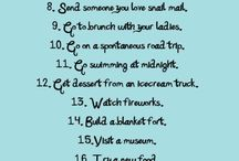 Yapılacak 10/20/50/100 şey listesi