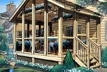 SCREENED PORCHES, OUT DOOR SPACES / by Leslie Connor