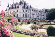 Chateaus and Castles in France / Château: a manor house or residence of the lord of the manor or a country house of nobility or gentry, with or without fortifications, originally—and still most frequently—in French-speaking regions. -Wikipedia
