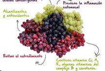 Frutas, verduras y algo más / Propiedades y beneficios de diferentes frutas, verduras, semillas, entre otras.