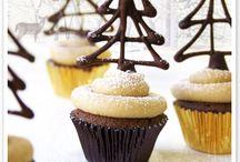 Decorating cupcakes