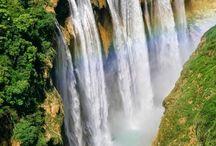 Cachoeira e cascatas...