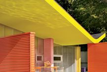 Colors and modern architecture