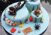 scuba cakes