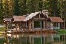 Rustic Cabins - Decks - Fire Pits