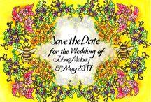 Beautiful Wedding Stationery / Bespoke, hand drawn stationery for unique weddings