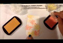 Crinkle Chalk Ink BAckground Technique
