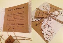 Wedding invitations / Zaproszenia ślubne handmade.