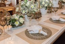 Mesas postas - decoração / Mesas para casamentos, 15 anos, etc...