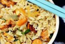 food: rice, noodles & stir fries / by Amie Gill