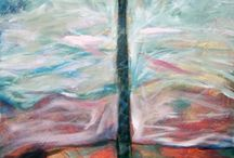 Abstract Expressionistic paintings / Fine art and semi abstract paintings