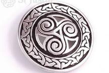 CELTIC BELT BUCKLES / Celtic Belt Buckles with unique Celtic Knot designs including Inverurie Horses, Triscele, Serpent, Weave and Lindisfarne Spirals designs.