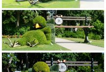 horticulture, nice topiary / gardens, topiary