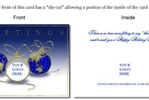 Greeting cards with business logo