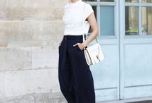 culottes and cigarette pants