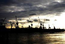 Skyline wereldhavens