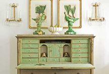 armoirs shelves etc / by Leah Clark