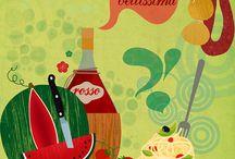 Food Illustrations  / Drawings of food