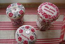 Jar lid cross stitch / pokrywki na słoiki