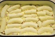 banány se sušenkami řezy
