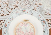 Vintage place setting lace Bride winery.