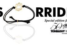 Special Edition SMILE Bracelet!  / In occasione dei 50 anni di @TONI&GUY, in collaborazione con @DexterMilano hanno realizzato una special edition del Time Machine, a sostegno dell'associazione Progetto Sorriso nel mondo. Bracciale elastico utilizzabile anche come fermacapelli.