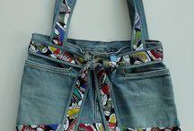 Tassen jeans kussens