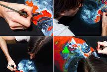 BEHIND THE SCENES / Artist Studio, Work in progress, Art student's life.