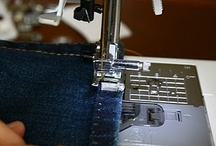 Sewing.