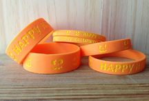 Halloween Wristbands / Halloween wristbands are one of the best accessories to match your Halloween costumes. You can customize orange or black wristbands with the words Boo,Trick or Treat or Happy Halloween at www.amazingwristbands.com with 'Glow In The Dark' style. / by Amazing Wristbands