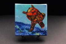 Prints & Mini Giclees / Smaller versions of my original paintings-- gallery wrapped giclees that come with easels to display