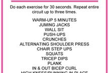 HIIT Workouts / High intensity interval training workouts -- let's get sweaty!