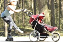 Rollerbalding with a Stroller / How to kkate with the stroller to lose weight and shape your body. Special rollerblading workout for moms