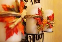 Pumpkins & Leaves