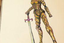 Warrior girl / Character design