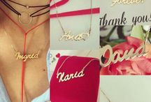 14K Solid Gold Name Necklaces / Your name necklace, handcrafted in 14K solid yellow gold. Visit our shop www.ingriko.ro