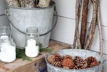 Winter Porch Inspiration / Decoration inspiration for a beautiful winter porch!
