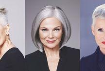 fryzury dla siwych włosów-Hairstyles for gray hair / KOBIETY O SIWYCH WŁOSACH
