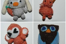 Amigurumi / Made by Cult Cat, https://www.behance.net/cultcat Miniature hand made toys, using crochet. Dimensions raging from 3 to 11 centimeters.