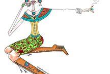 Fashion ilustration / ilustración de moda / La ilustración de moda es un arte , una expresión viva ..más viva que nunca
